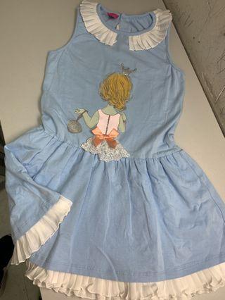 斯文裙blue dress