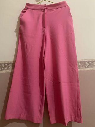 Celana Kulot Pink ZARA