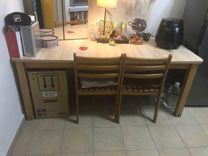 Dining Table 6 seater + 6 chairs