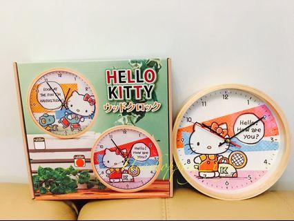 全新限定版特別hello kitty木鐘‼️
