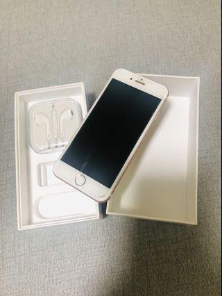 iPhone 6s 玫瑰金 64G 附耳機