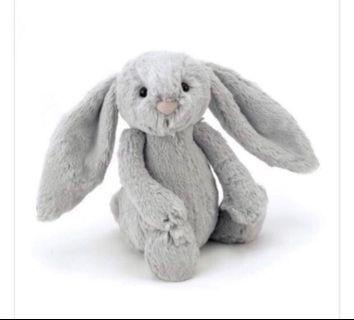 Jellycat Medium Bashful Bunny in Silver Grey