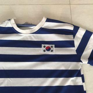 🚚 Ulzzang Korean Flag Striped Shirt