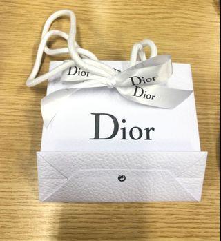 Dior small size paper bag 小紙袋 x2 (兩個)