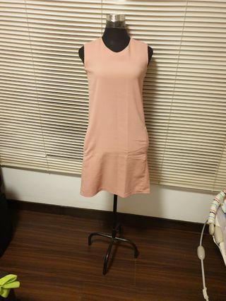 Office Peach Dress
