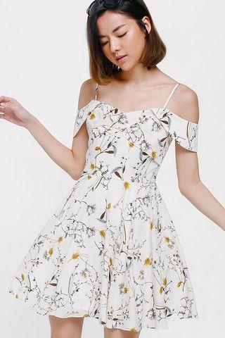 🚚 Odila Printed Off Shoulder Dress