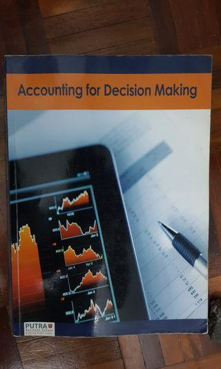 Accounting for Decision Making Textbook Putra Business School Textbook