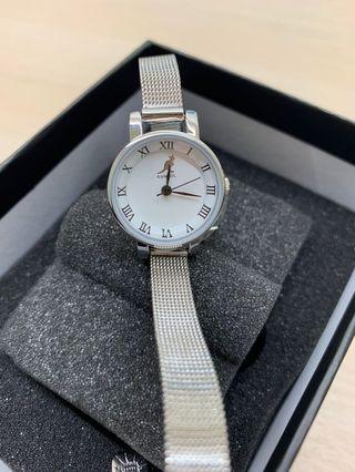 🚚 Kangol 羅馬數字復古鋼帶手錶 18mm