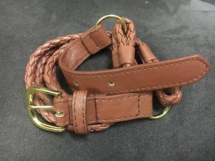 Light Brown Vintage Belt
