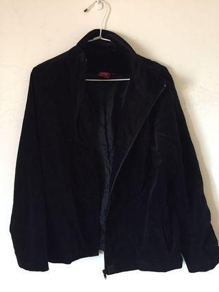 古著很帥黑色麂皮立領外套.vintage