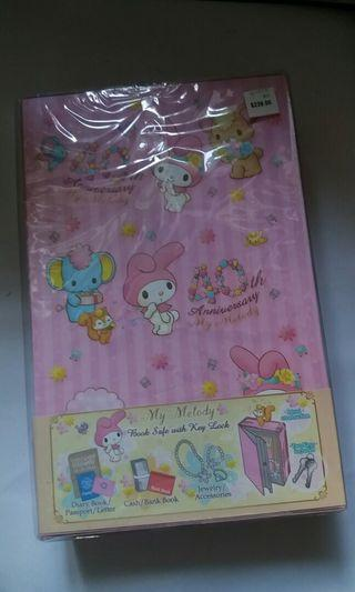 My Melody book safe with key lock