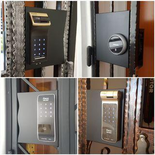 Gate digital lock installation