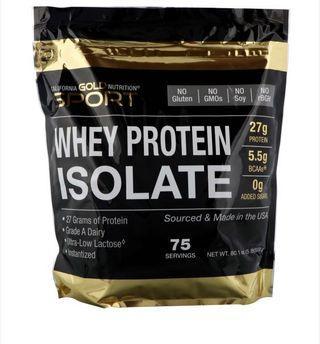 🚚 分離式蛋白 protein isolate 5 lbs unflavored California gold