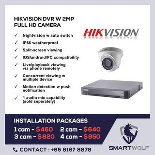 Hikvision Cctv installation package
