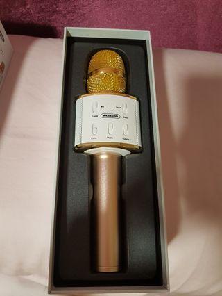 Golden Bluetooth Microphone For Karaoke