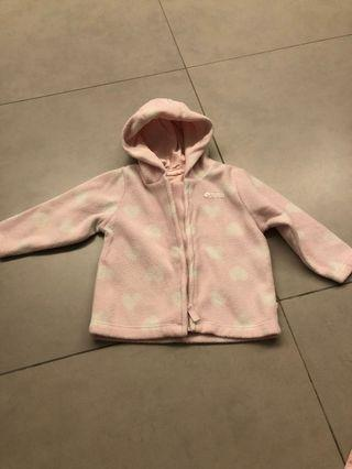 Mothercare pink fluffy jacket