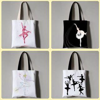 🚚 8 designs ballerina tote bag