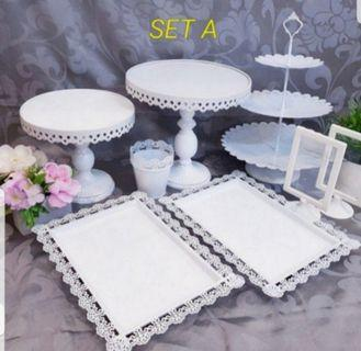 Dessert table, cake stand, cupcake stand, cake tray for Rent