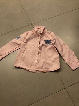 Pink boy long sleeve shirt