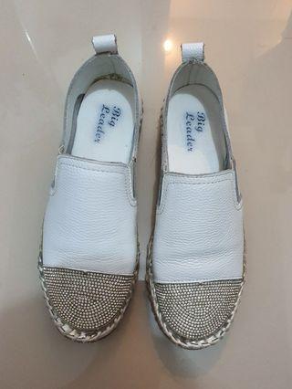 Sequins Korea White Shoes