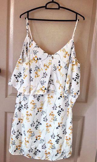 Floral White color dress