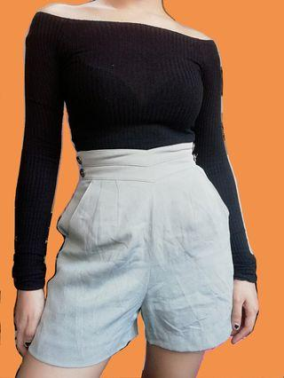 Gray high waist shorts