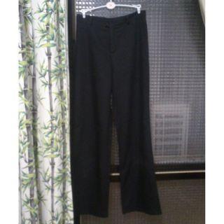 韓款 好搭配的全黑色高腰西裝褲喇叭褲 顯腿長