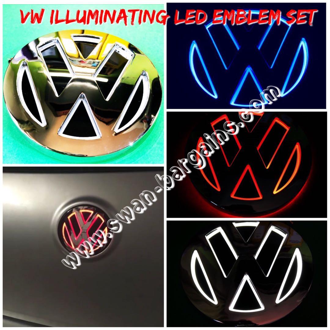 3d Volkswagen Led Illuminating Running Brake Light Rear