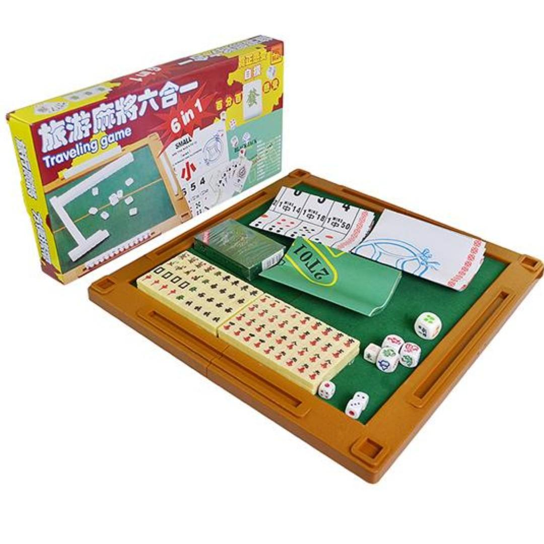 6 In 1 Mini Travelling Mahjong Set Toys Games Board Games Cards On Carousell