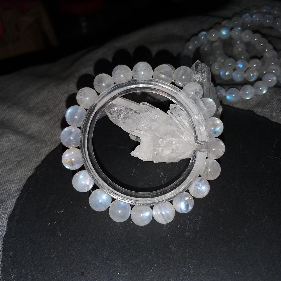 8.5mm斯里蘭卡月亮石 @天然水晶