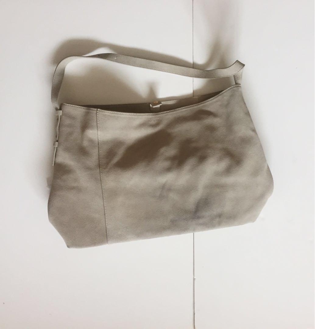 Aritzia Tan Suede Handbag