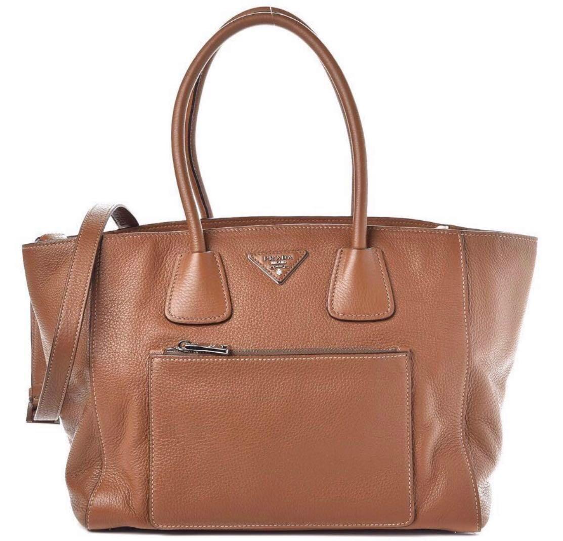 6240323470 Authentic PRADA Vitello Daino leather bag, Luxury, Bags & Wallets ...