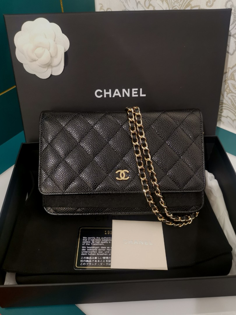 ce2ef18517f242 BNIB Chanel WOC Black Caviar with GHW, Luxury, Bags & Wallets ...