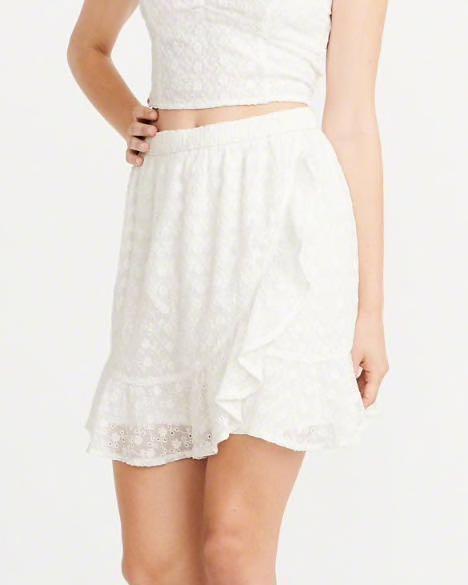 Bnwt Af Lace Wrap Skirt Crotchet Abercrombie