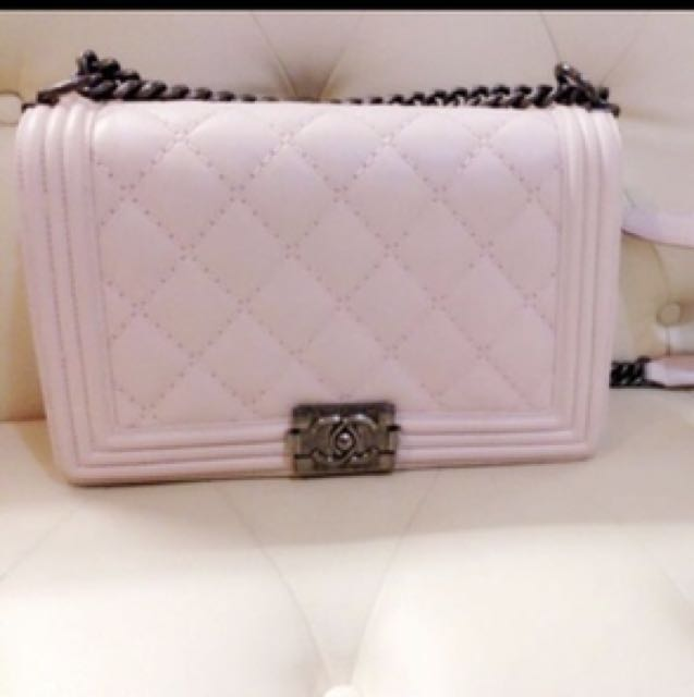 d292c231ebd6 Boy Chanel in Light Pink, Luxury, Bags & Wallets on Carousell