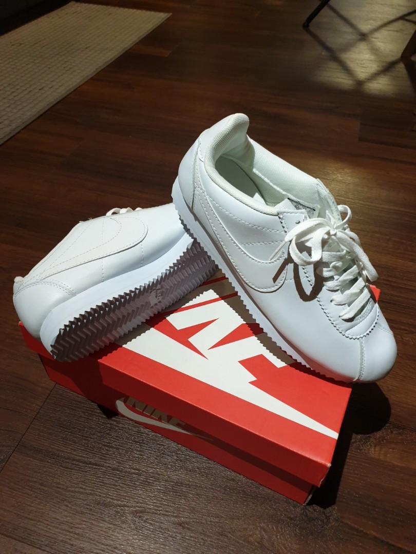 superior quality 56a73 78924 BRAND NEW Nike Cortez (WHITE) Size  US 9.5, Men s Fashion, Footwear ...