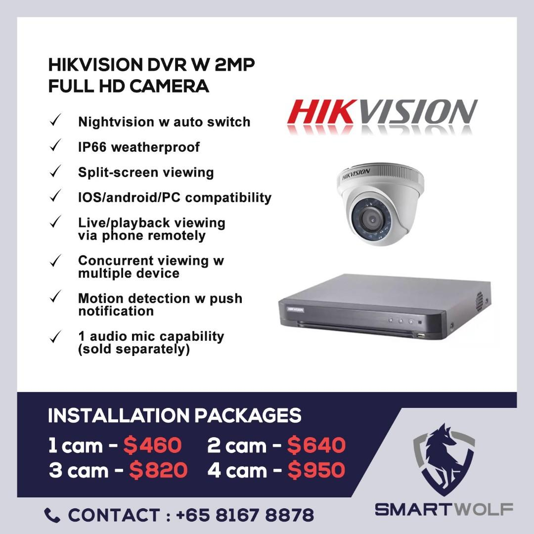 CCTV hikvision camera installation package