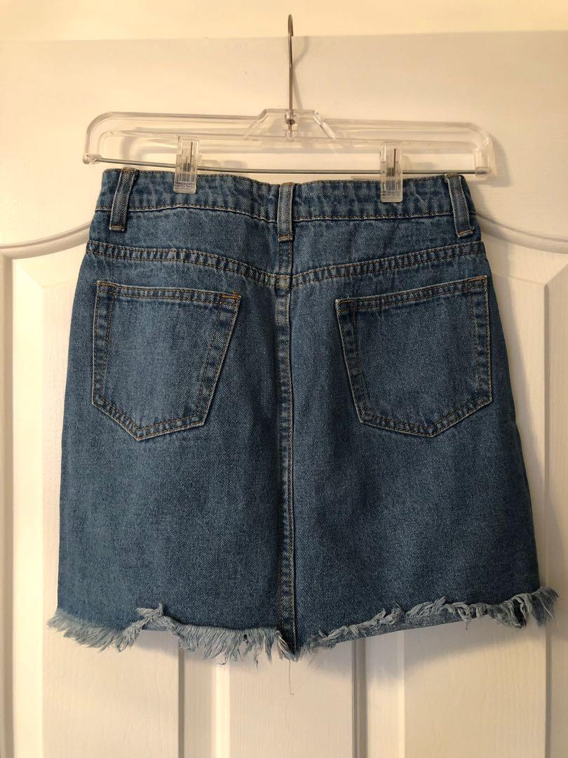 Denim skirt size 4