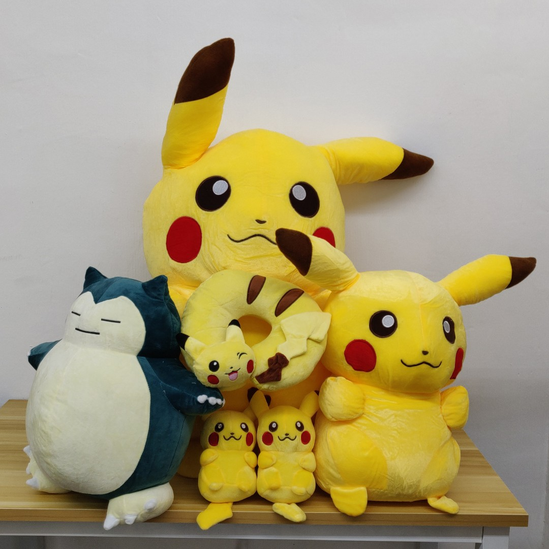 Giant Pikachu, Snorlax, Neck Pillow, and other Pokemon Soft