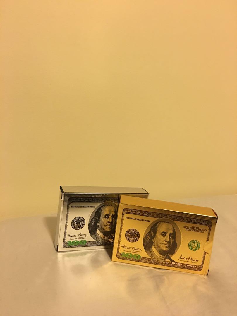 Gold and Sliver Poker Card Set
