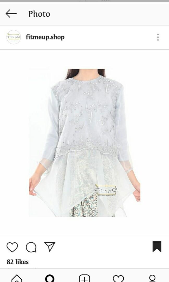 Grey Azeema Blouse From Fitmeup.shop