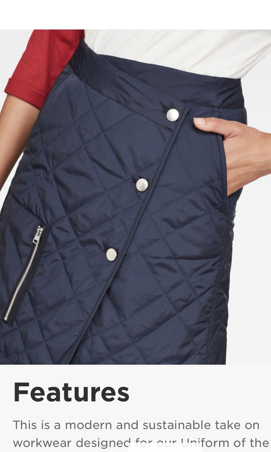 G-Star Uniform Of The Free Powel Quilted Wrap Skirt