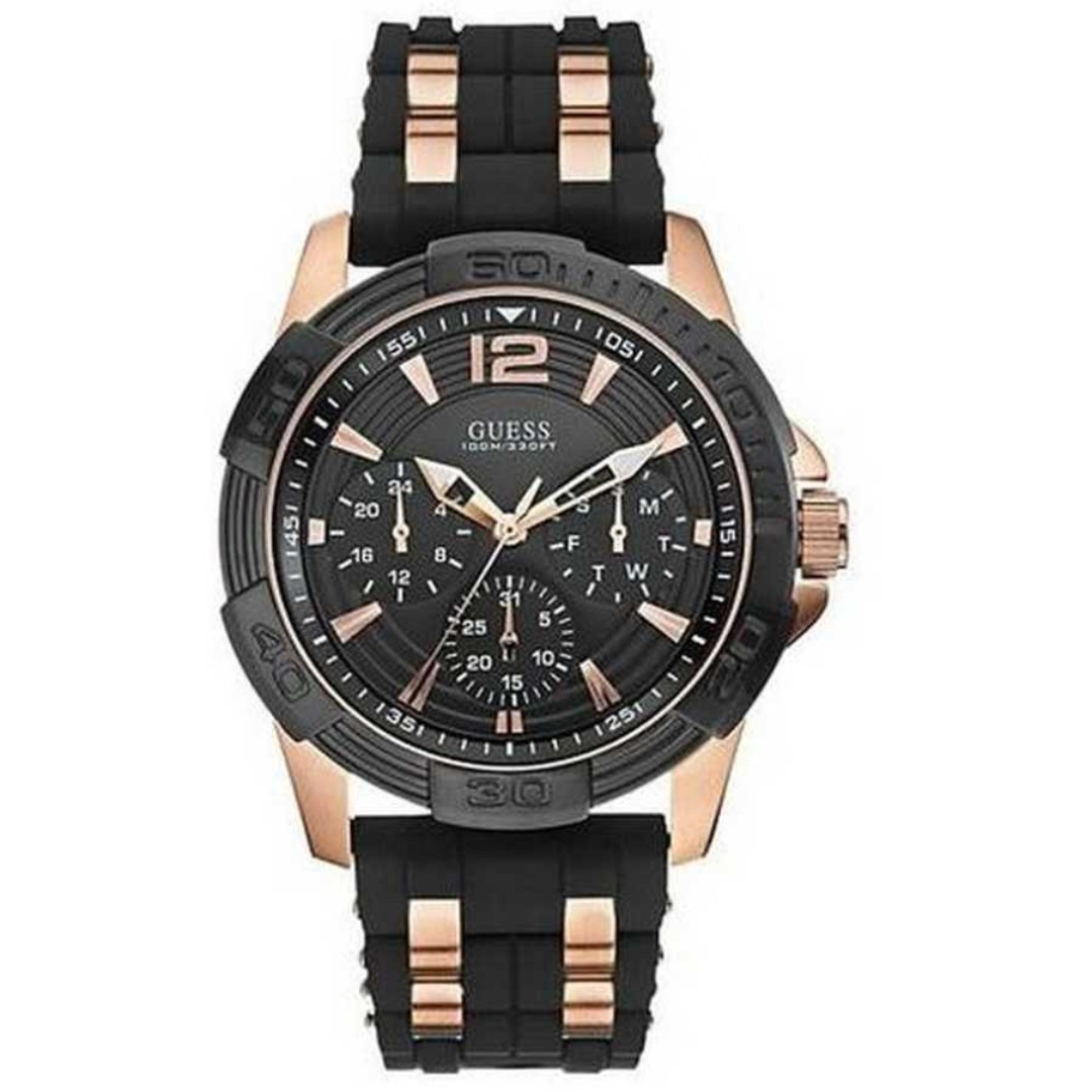 Guess Men S Black And Rose Gold Watch Best Picture Of Bear