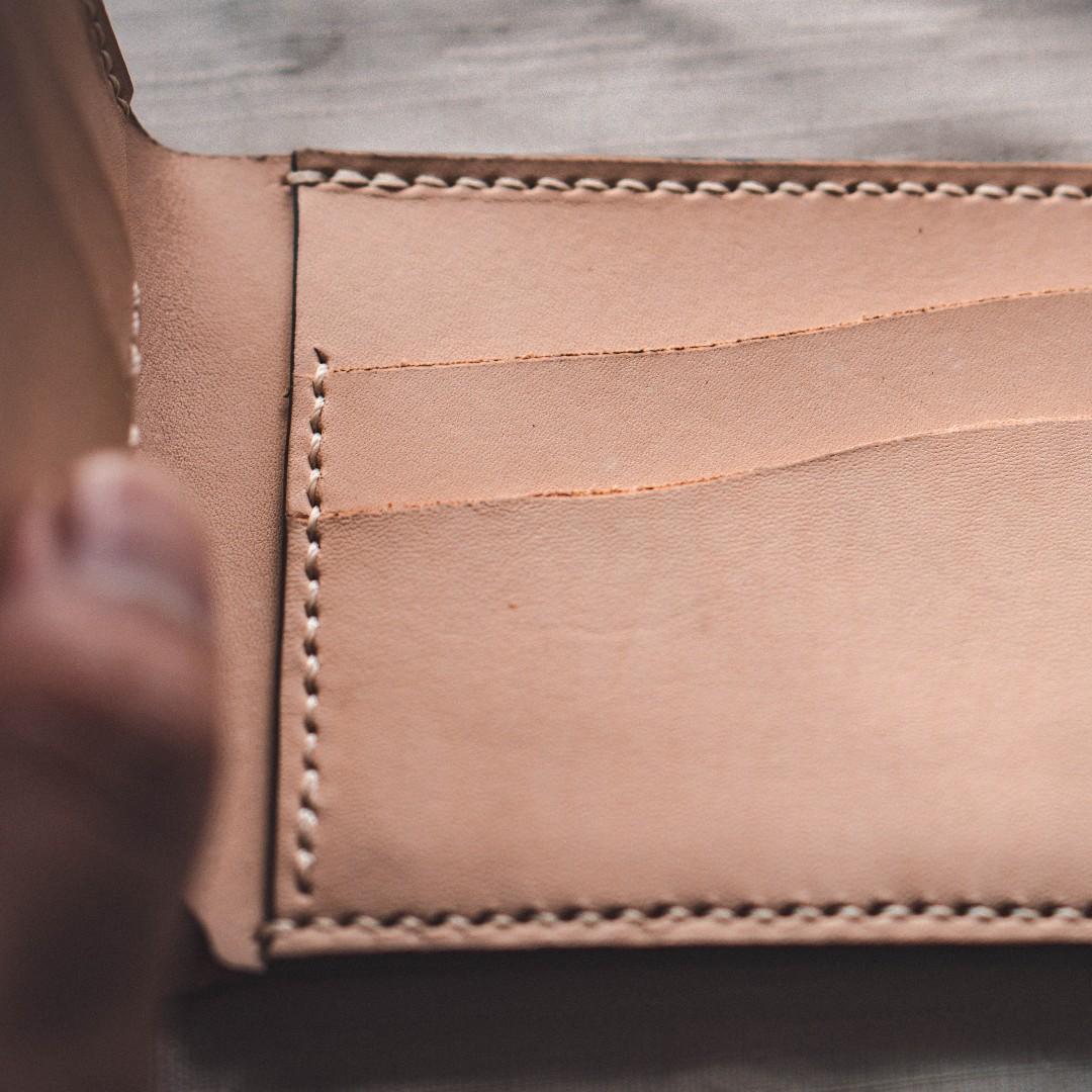(Price Reduced)Handmade Natural Veg Tan Wallet