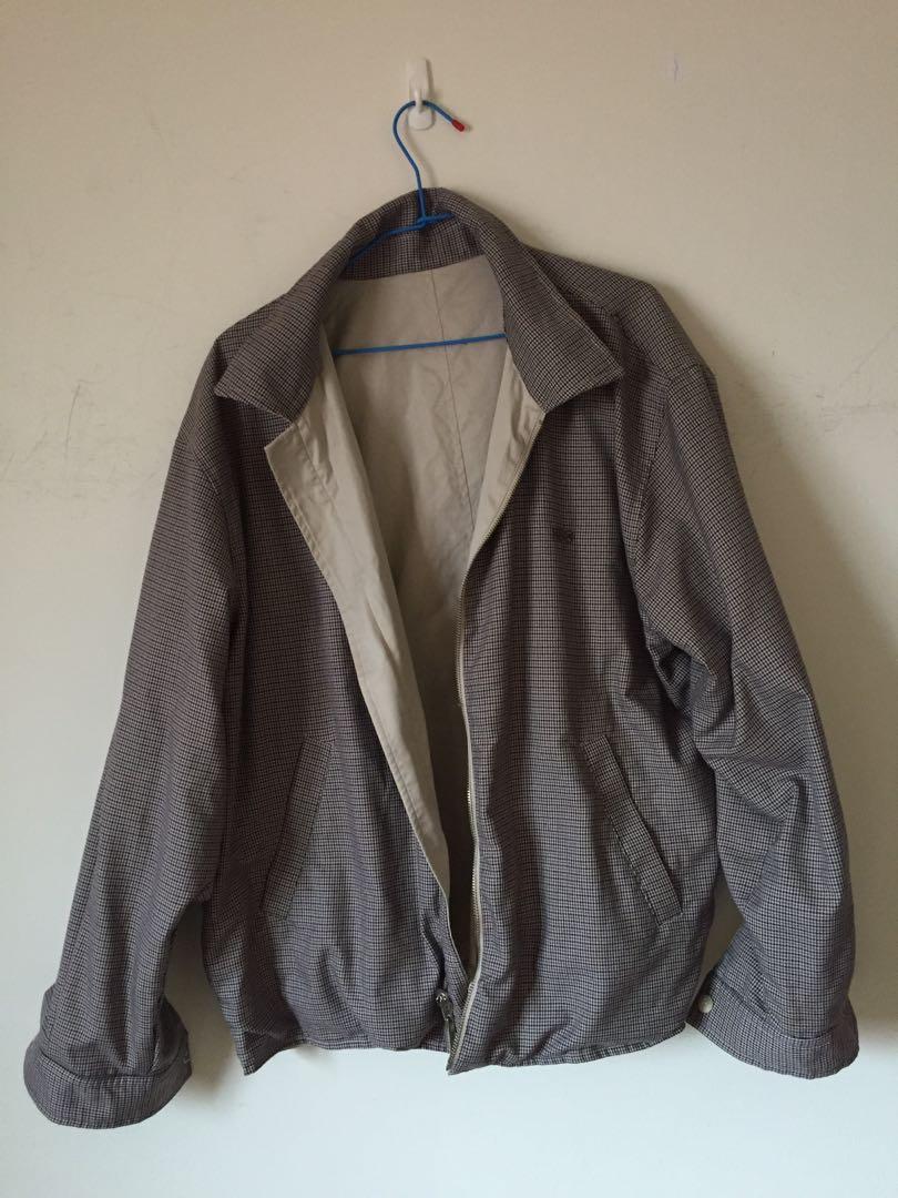 古著HBO復古格紋雙面兩穿襯衫外套