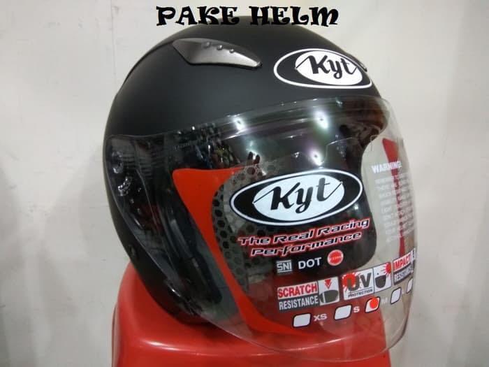 Helm KYT Galaxy Slide Solid Hitam Dop