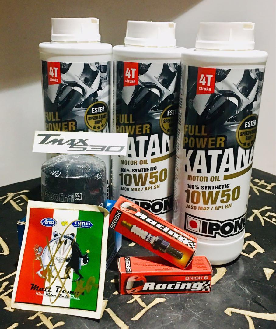 IPONE Full Power Katana Motor Oil 10W50 100% Synthetic for Yamaha Tmax 530cc