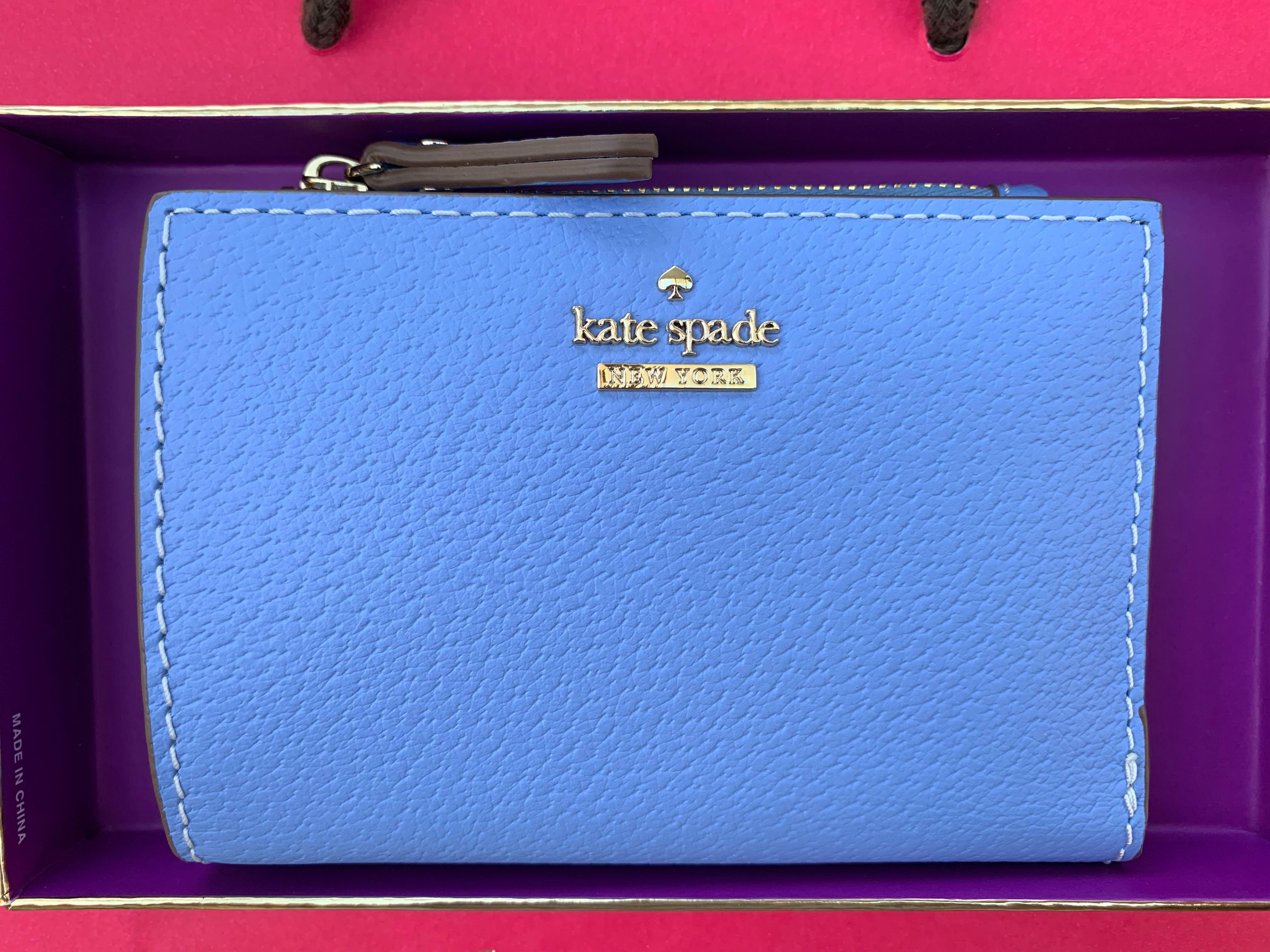 Kate spade blue wallet with separate card wallet insert