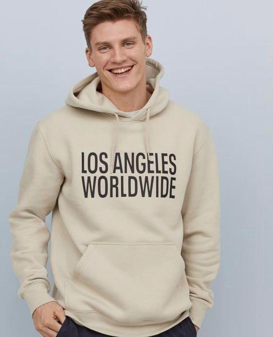 Los Angeles World Wide Hooded by H&M, 100% Original