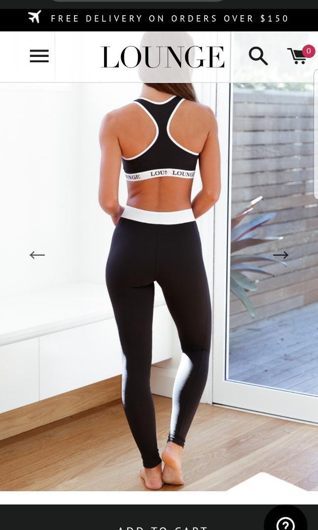 Lounge Underwear Black High Waisted leggings & sport bra set